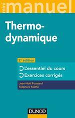 Télécharger le livre :  Mini manuel - Thermodynamique - 2e éd.