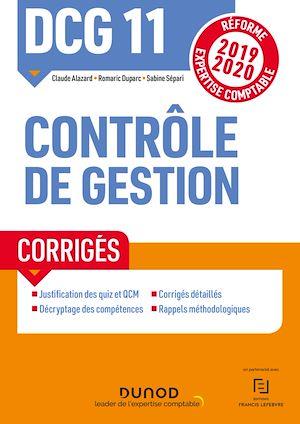 Téléchargez le livre :  DCG 11 Contrôle de gestion - Corrigés