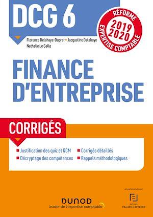 Téléchargez le livre :  DCG 6 Finance d'entreprise - Corrigés