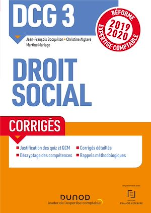 Téléchargez le livre :  DCG 3 Droit social - Corrigés