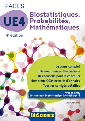 Téléchargez le livre :  PACES UE 4 Biostatistiques Probabilités Mathématiques - 4e ed.
