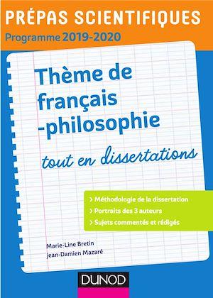 Téléchargez le livre :  Prépas scientifiques - Thème de français-philosophie 2019-2020
