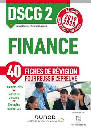 Téléchargez le livre :  DSCG 2 Finance - Fiches de révision
