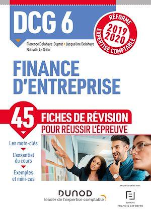 Téléchargez le livre :  DCG 6 Finance d'entreprise - Fiches de révision