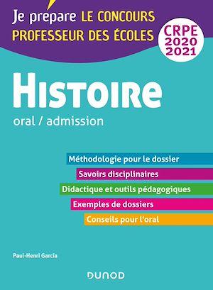 Téléchargez le livre :  Histoire - Professeur des écoles - Oral / admission - CRPE 2020-2021