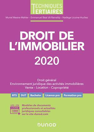 Téléchargez le livre :  Droit de l'immobilier 2020