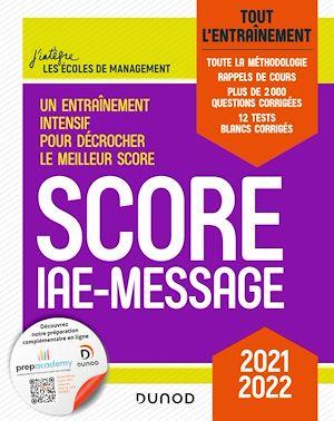 Téléchargez le livre :  Score IAE-Message - 2021-2022
