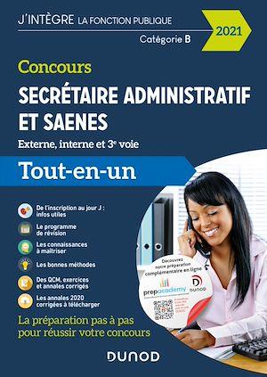 Téléchargez le livre :  Concours Secrétaire administratif et SAENES - Concours 2021