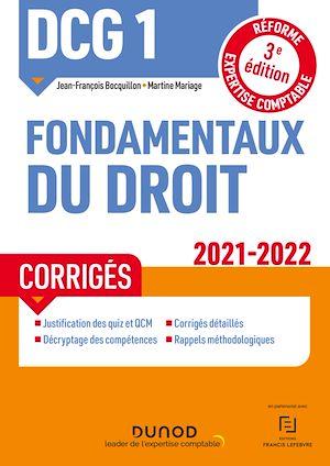 Téléchargez le livre :  DCG 1 Fondamentaux du droit - Corrigés - 2021/2022