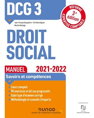 Téléchargez le livre :  DCG 3 Droit social - Manuel - 2021/2022