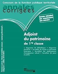 Télécharger le livre : Adjoint du patrimoine de 1re classe 2013-2014