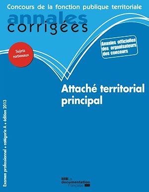 Téléchargez le livre :  Attaché territorial principal 2013