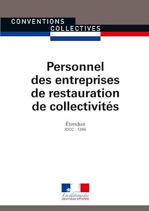 Téléchargez le livre :  Personnel des entreprises de restauration de collectivités