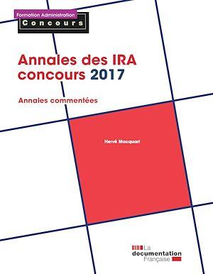 Téléchargez le livre :  Annales des IRA - Concours 2017