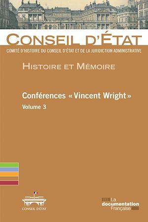 """Téléchargez le livre :  Conférences """"Vincent Wright"""" - Volume 3"""