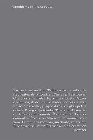 Téléchargez le livre :  Graphisme en France 2016