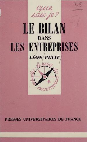 Téléchargez le livre :  Le Bilan dans les entreprises