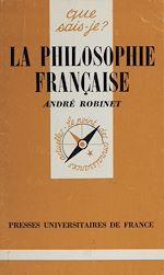 Télécharger le livre :  La Philosophie française