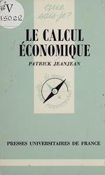 Télécharger cet ebook : Le Calcul économique