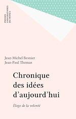 Télécharger le livre :  Chronique des idées d'aujourd'hui