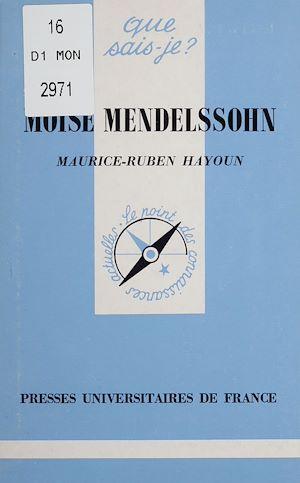 Téléchargez le livre :  Moïse Mendelssohn