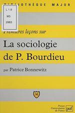 Télécharger le livre :  Premières leçons sur la sociologie de Bourdieu