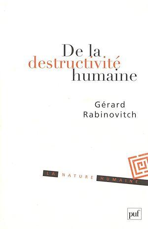 Téléchargez le livre :  De la destructivité humaine
