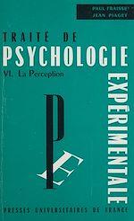 Télécharger le livre :  Traité de psychologie expérimentale (6)