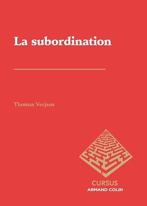 Téléchargez le livre :  La subordination