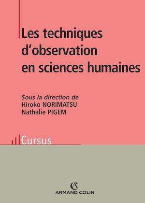 Téléchargez le livre :  Les techniques d'observation en sciences humaines
