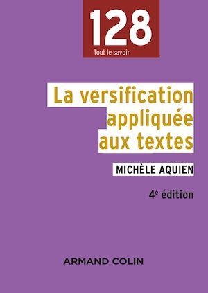 Téléchargez le livre :  La versification appliquée aux textes - 4e édition
