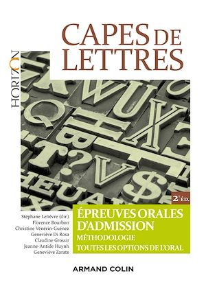 Téléchargez le livre :  CAPES de Lettres