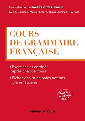Téléchargez le livre :  Cours de grammaire française