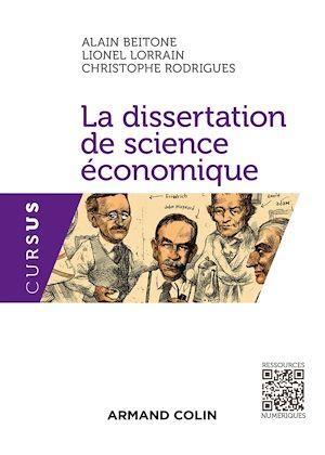Téléchargez le livre :  La dissertation de science économique
