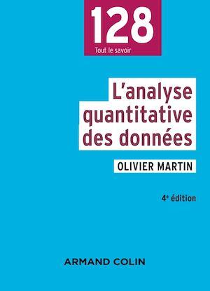 Téléchargez le livre :  L'analyse quantitative des données - 4e éd.