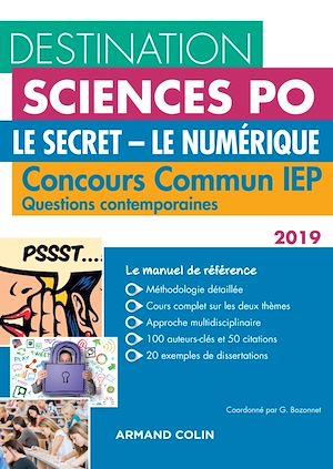 Téléchargez le livre :  Destination Sciences Po - Le Secret, Le Numérique - Concours commun IEP