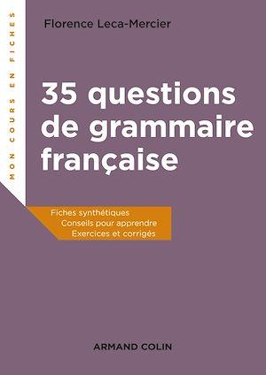 Téléchargez le livre :  35 questions de grammaire française