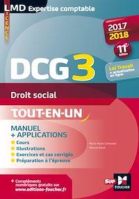 Télécharger le livre : DCG 3 - Droit social - Manuel et applications - Millésime 2017-2018 - 11e édition