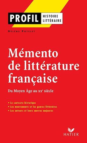 Téléchargez le livre :  Profil - Mémento de la littérature française