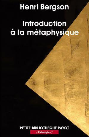 Téléchargez le livre :  Introduction à la métaphysique