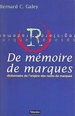 Télécharger cet ebook : De mémoire de marques