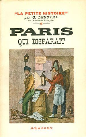 Téléchargez le livre :  Paris qui disparaît