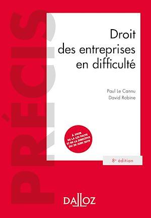 Téléchargez le livre :  Droit des entreprises en difficulté - 8e ed.