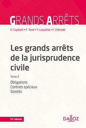 Téléchargez le livre :  Les grands arrêts de la jurisprudence civile T2