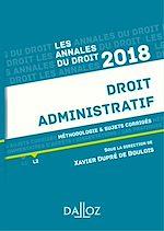 Télécharger le livre :  Droit administratif 2018. Méthodologie & sujets corrigés