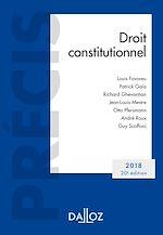 Télécharger le livre :  Droit constitutionnel. Édition 2018