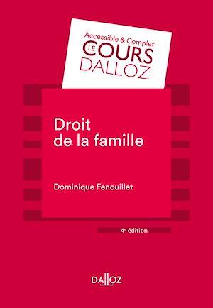 Téléchargez le livre :  Droit de la famille - 4e éd.