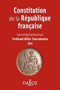 Télécharger le livre : Constitution de la République française. 2019