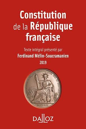 Téléchargez le livre :  Constitution de la République française. 2019