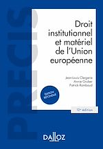 Télécharger le livre :  Droit institutionnel et matériel de l'Union européenne